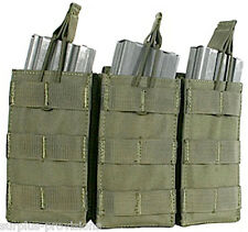 Condor - Triple 5.56 Open Top Mag pouch - OD Green - Tactical clip Molle - #MA27