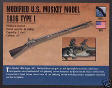 MODIFIED U.S. MUSKET MODEL 1816 TYPE I Harpers Ferry M1816 Gun ATLAS PHOTO CARD