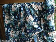 12 Metres Wychwood Textra Blue Floral Fabric Heavy Weight Cotton 140cm wide NEW