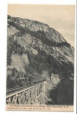 Vintage Postcard White Mountains NH Mt. Willard Willey Brook Bridge