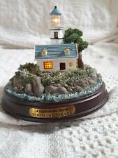 Thomas Kinkade A Light In The Storm Cottage & Lighthouse Lights Up