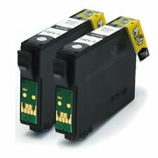2 Black Compatible (non-OEM) Printer Ink Cartridges to replace T1291 Apple Ink