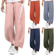 Women Summer Casual Loose Baggy Trousers Ladies Wide Leg Pants Comfort Plus Size
