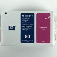 BRAND NEW! Old Stock Genuine OEM HP 80 Magenta Ink Cartridge  C4892A HG29