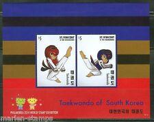 ST. VINCENT GRENADINES 2014  TAEKWONDO OF SOUTH KOREA SOUVENIR SHEET II  MINT NH