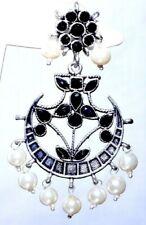 Silver Oxidized Earrings Jhumka Jhumki Chand Bali Imitation Jewelry Gift N15