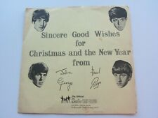 THE BEATLES  FAN CLUB FLEXI  RECORD CHRISTMAS 1963
