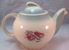Susie Cooper Teapot, Floral and Green, Vintage Rare, Crown Works Burslem England