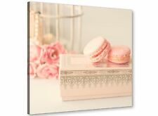 Pink Cream French Shabby Chic Bedroom Abstract Canvas 49cm Square - 1s284s