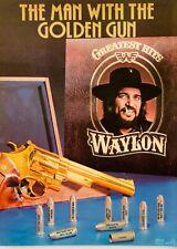 WAYLON JENNINGS 1979 POSTER ADVERT GREATEST HITS The Man With The Golden Gun