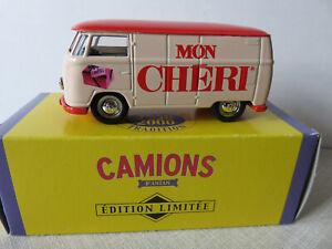 "Wolkwagen  1955 ""Mon Cheri"" 1/64 Corgi  ""Edition limitée Camion D'antan"""