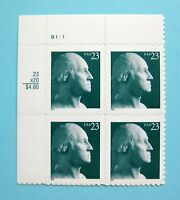 Sc # 3468A ~ Plate # Block ~ 23 cent George Washington Issue (dg22)