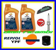 Kit Tagliando HONDA SH 300 11>12 Candela Filtro Aria Olio REPSOL 2011 2012 SH300