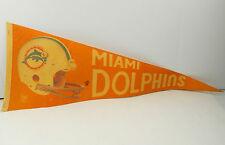 Vintage Miami Dolphins Pennant Orange 1980's Fair Condition