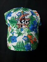 ASG Floral Miami Marlins 2017 Baseball Hat Cap Adjustable Strap One Size