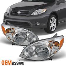 Fits 2003-2008 Toyota Matrix Amber Chrome Clear Headlights Headlamp Replacement