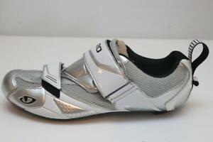 New LEFT SINGLE SHOE Giro Mele Tri Road Bike 42.5 9 EC90 Carbon Silver Triathlon