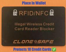 Clone Seguro Rfid & NFC Wireless Tarjeta de Crédito Protector - Bloqueadores