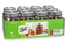 Ball Vintage Regular Mouth 12-Pack 1-Pint Glass Canning Jars, Lids, Wedding Gift