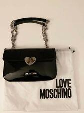 Borsa tracolla donna Love Moschino - Pelle lucida nera