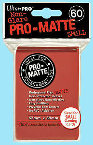 Ultra Pro 60 RED PRO-MATTE Small Size Deck Protector NEW Gaming Card Sleeves