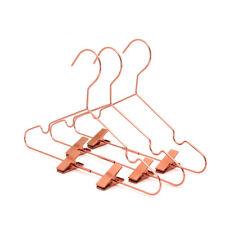"Koobay 12.5"" Rose Gold Copper Shiny Children's Metal Wire Clothes Hangers 30PCS"