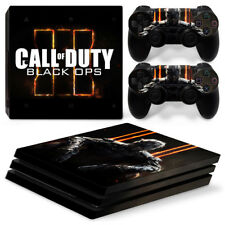 Sony PS4 Pro Console and Controller Skins / Decal -- COD Black Ops (P-0012)