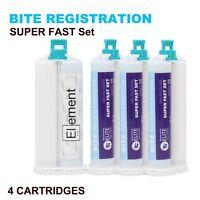 ELEMENT VPS Bite Registration Material SUPER FAST Set 4 X 50ML Cartridges Dental