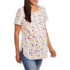 3X NEW Maternity TOP Lightweight Pretty Floral Plus Size Faded Glory NWT !