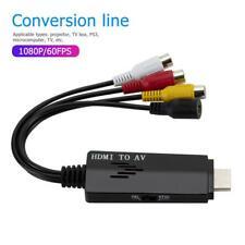 HDMI to AV Conversion Cable 1080P Male to 3RCA AV Composite Female Adapter Cord