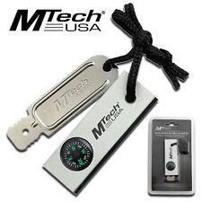 """NEW! Mtech 3"""" Magnesium Fire Starter Compass Waterproof Set w/ Mirror"""