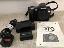 Nikon D70 camera body, battery, charger And Manual