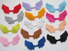65 Big Felt Angel Wing Applique/trim/bow-13 Colors AC009