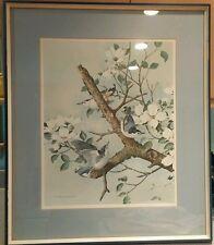 Basil Ede Birds 1968 print 16 x 20 framed 25 x29 Donald Art Company