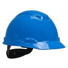 Blue Short Brim Hard Hat 4-Point Ratchet Suspension Replaceable Brow Pad Safety