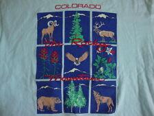 Vintage Colorado Rocky Mountains Nature Animals Blue Men's T Shirt M