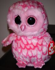 """Ty Beanie Boos ~ PINKY the 6"""" Pink Owl ~ Stuffed Plush Toy ~ NEW with MINT TAGS"""