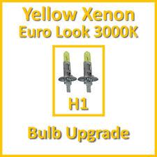 Warm White 3000K Yellow Xenon Headlight Bulbs Main Dip Beam or Fog H1 55W (x2)
