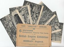 1924 BRITISH EMPIRE EXHIBITION *CASTLE* series set of 6 post cards in original