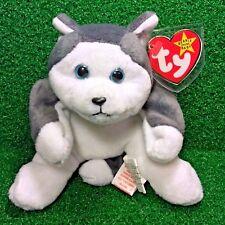 NEW RETIRED Ty Beanie Baby NANOOK 1996 Husky Dog Plush Toy Tag ERRORS Canada TT
