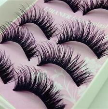 5Pairs Natural Long Black Eye Lashes Makeup Thick Fake False Party Eyelashes F9