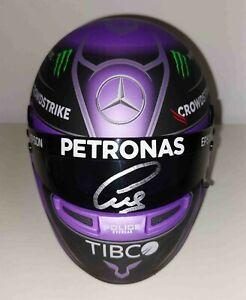 2021 Lewis Hamilton Mercedes F1 model helmet signed 1/2 World Champion Formula 1