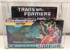 Transformers Original G1 AFA 85 Seacon Snaptrap MOSC MIB 85/85/90