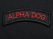 ALPHA DOG TAB TYPE A US ARMY USA MILITARY ISAF BLACK OPS RED HOOK & LOOP PATCH
