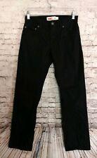 Levi 511 Slim Fit Black Twill Khaki Chino Jeans White Tab 14 Reg 27x27