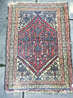"""Vintage Hand Knotted Multi color Oriental Throw Rug 3' 2"""" x 2' 8"""""""
