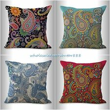 4pcs cushion covers vintage floral paisley discount throw pillow covers