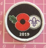 Scouts Poppy 2019 Badge Remembrance Scout Cubs Beavers Guide Camp Sew Blanket