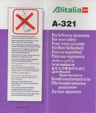 Alitalia Team A-321 airline safety card memorabilia - 64504910/11-96 - sc487 aa