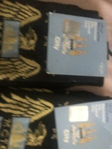 Manchester City Socks 6-11 Size .2pair In Pack